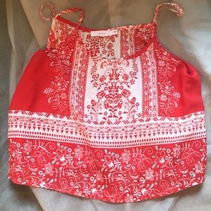 🔥 Pretty red & white LUSH spaghetti strap cami-SM